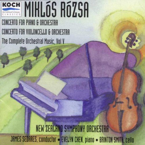 Miklós Rózsa: Concerto For Cello/ New Zealand Symphony, Sedares